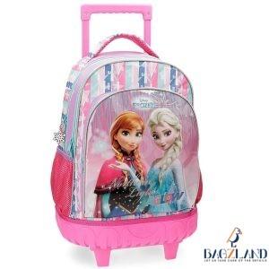 cartable sac à dos à roulettes Frozen reine de neige